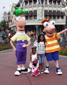 Hankerson Family at Walt Disney World with Phineas and Ferb