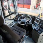 Driver seat of RedCoach Express